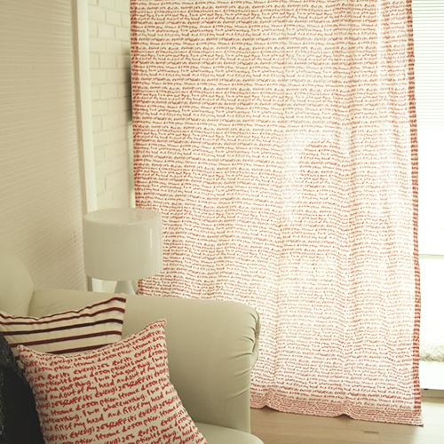 lettering curtain (red)