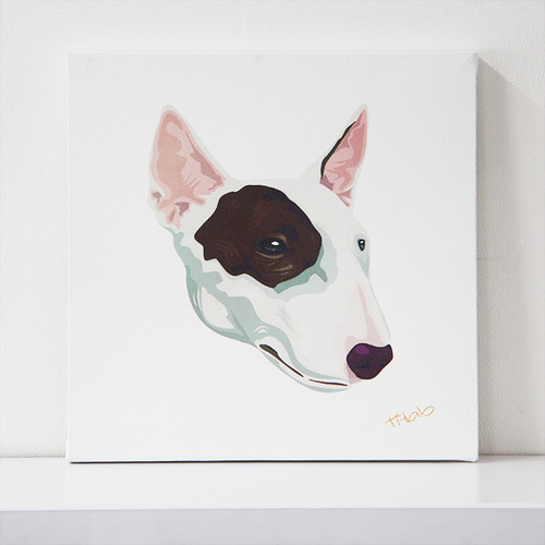 art canvas #T005 - Bullterrier
