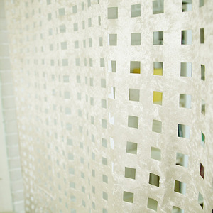 square velvet curtain - ivory